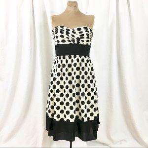 Donna Ricco CUT OUT BACK polka dot dress